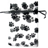 "Paw Print Organza Gift Bags 5"" x 6.5"" (Set of 6)"
