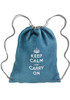 Linen Drawstring Backpacks - Cromwell - Blue