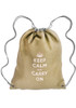 Linen Drawstring Backpacks - Cromwell - Beige