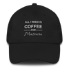 Coffee & Mascara Hat - Black