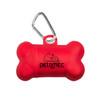 Bone Waste Bag Dispenser - Transparent Red