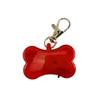 Bone Strobe Safety Collar Tags - Red