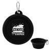 Collapsible Silicone Travel Pet Bowl - Black