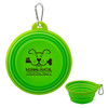 Collapsible Silicone Travel Pet Bowl - Green