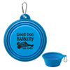 Collapsible Silicone Travel Pet Bowl - Blue