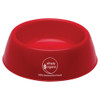 Plastic Pet Bowls with Custom Promotional Imprint - Red