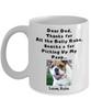 Thanks Dog Dad - Custom Name & Photo Mug - Front
