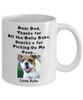 Thanks Dog Dad - Custom Name & Photo Mug - Back