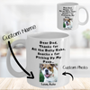 Thanks Dog Dad - Custom Name & Photo Mug