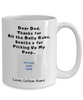 Thanks Dog Dad - Custom Name & Photo Mug - Blank