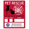 Emergency Pet Rescue Window Decal