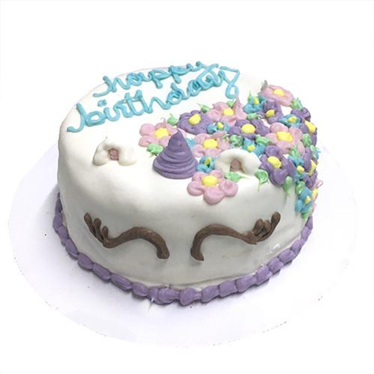 Customized Unicorn Birthday Cakes For Dogs