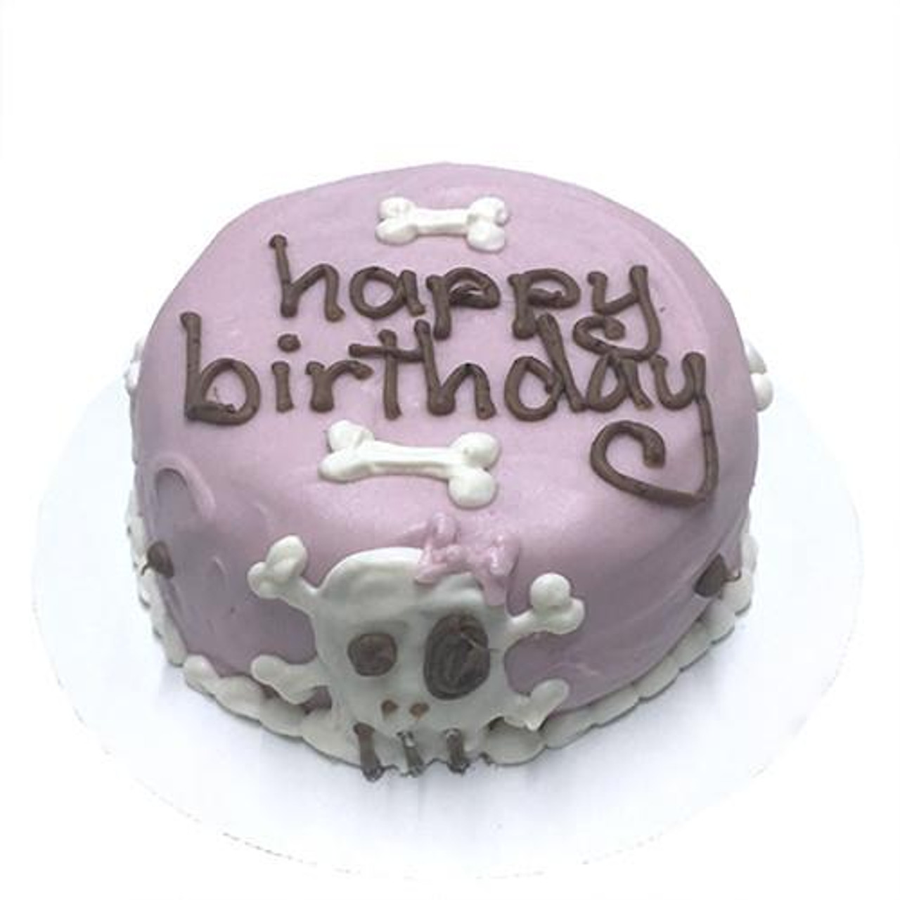 Astounding Customized Birthday Cakes For Dogs Pink Skull Organic Dog Treats Funny Birthday Cards Online Eattedamsfinfo