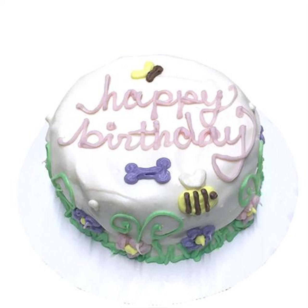 Magnificent Customized Birthday Cakes For Dogs Garden Theme Organic Dog Treats Funny Birthday Cards Online Benoljebrpdamsfinfo