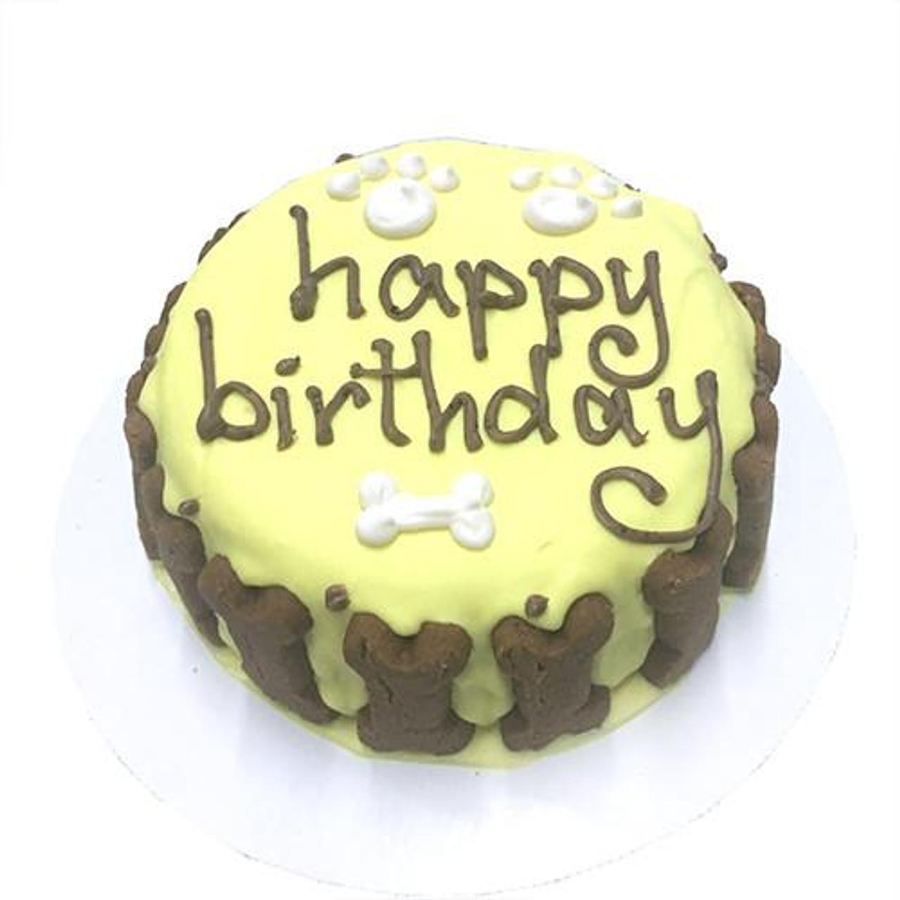Surprising Customized Dog Birthday Cake Yellow Organic Dog Treats Birthday Cards Printable Giouspongecafe Filternl