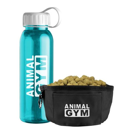 24oz Tritan Water Bottle & Travel Dog Bowl Set - Teal
