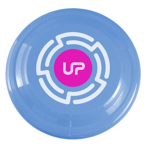 "9"" Promotional Frisbee, Custom Printed Flying Disk Toys - Light Blue"