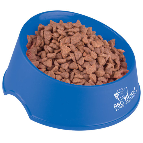 Chow Time Promotional Pet Food Bowls, Large - Blue