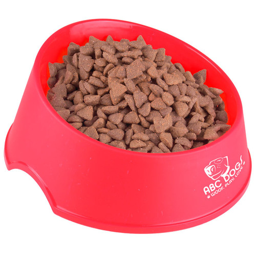 Chow Time Promotional Pet Food Bowls, Large - Red