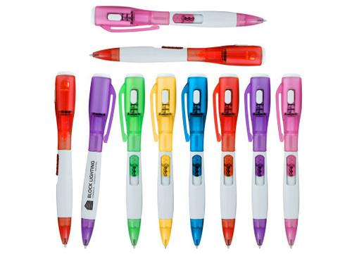 Promotional Light Up Pens with LED Flashlight