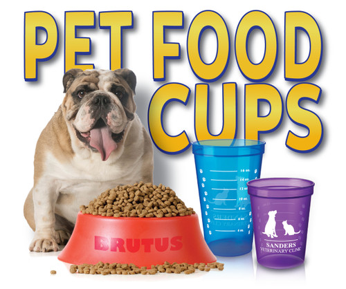 Pet Food Measuring Cups with Custom Imprint