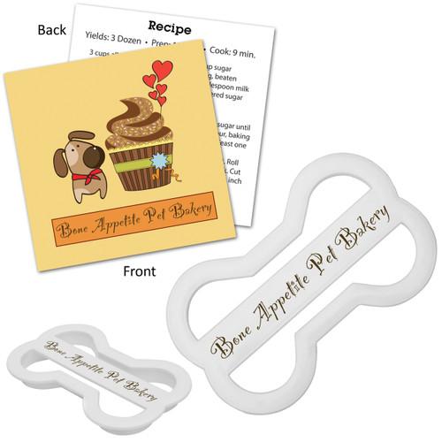 Customized Dog Bone Cookie Cutter & Recipe Card