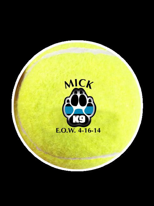 K9 Tribute Dog Tennis Balls - Dog Fundraiser