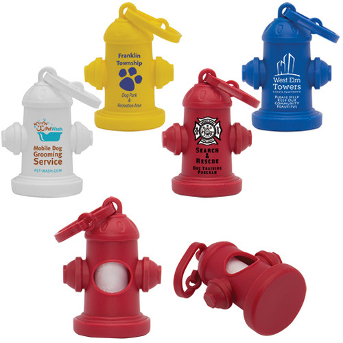Fire Hydrant Dog Waste Bag Dispensers, Custom Printed