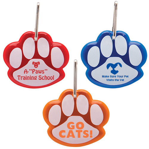 Paw Shaped Promotional Reflective Dog Collar Tags