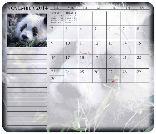 Calendar Mouse Pads Custom Print - Mouse Paper® Calendar Note Pads
