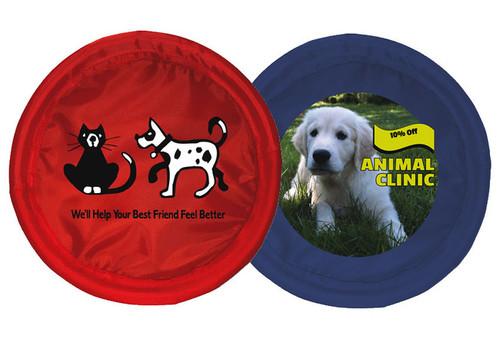 Custom Printed Fetch-N-Catch Frisbee Dog Toy - Full Color
