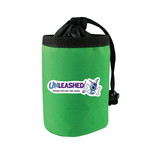 Full Color Promotional Dog Training Treat Bags w/Drawstring