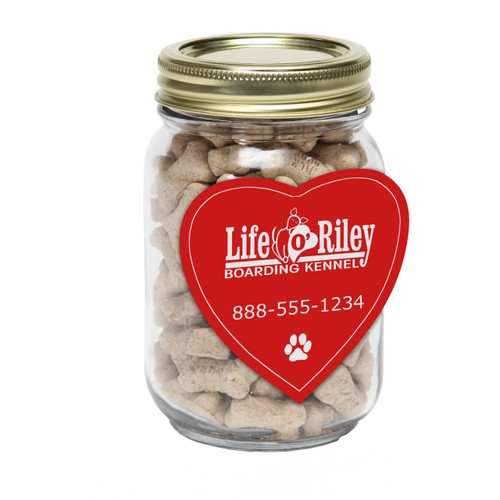 Mini Dog Treats Jar, Heart Magnet