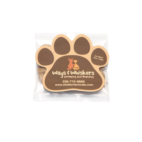 Cat Treats with Custom Paw Shaped Magnet