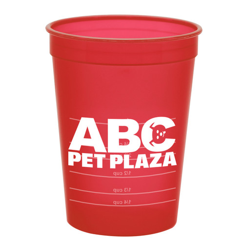 Promotional 16 oz Pet Food Measuring Cups - Translucent Red