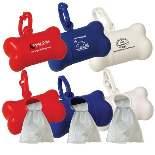 Bone Shaped Pet Waste Bag Dispenser, Custom Printed