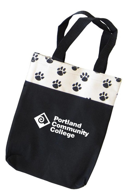 Custom Printed Paw Print Tote Bag - Small