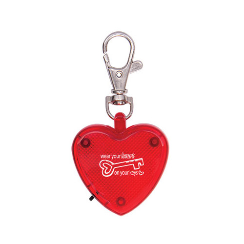Heart Shaped Light Up Dog Collar Tag with Custom Imprint