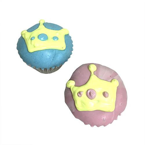 Prince/Princess Mini Cupcakes Dogs Party Treats (Case of 15)