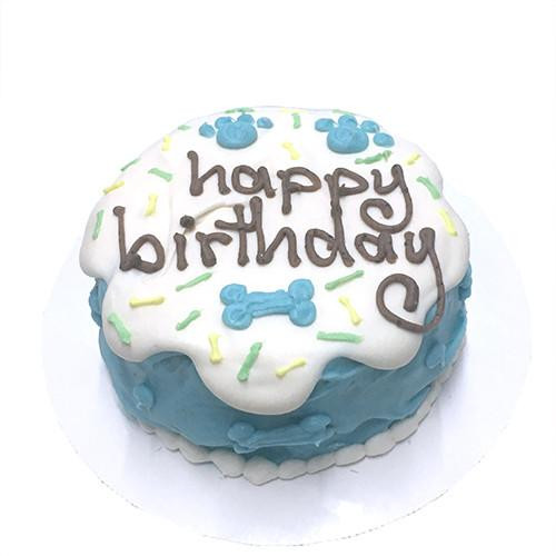 Customized Sprinkle Birthday Cakes for Dogs, Organic - BLUE