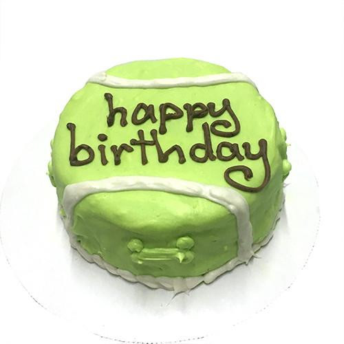 Customized Tennis Ball Birthday Cakes For Dogs
