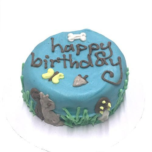 Customized Squirrel Themed Birthday Cakes for Dogs - Organic