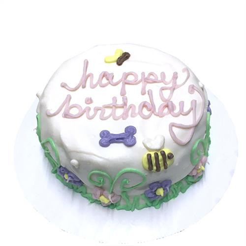 Customized Garden Themed Birthday Cakes For Dogs