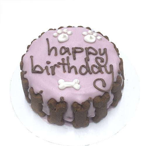 Customized Birthday Cakes for Dogs - All Natural, Organic - PINK