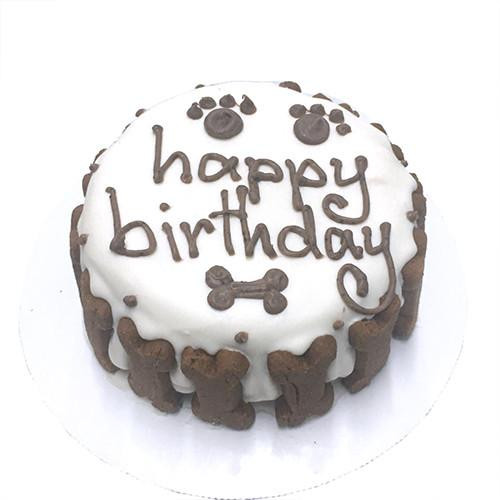 Customized Birthday Cakes for Dogs - All Natural, Organic - WHITE