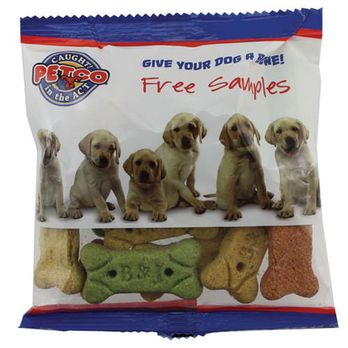"Promotional Dog Treat Packs with Full Custom Imprint - 6"" Bag"