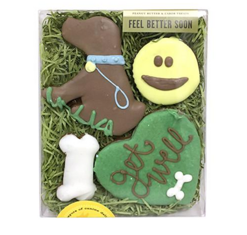 Feel Better Soon Dog Cookie Gift Box