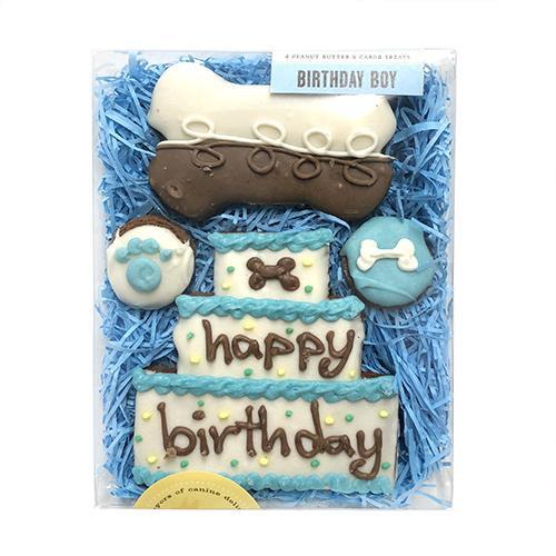 Happy Birthday Dog Cookie Gift Box (Boy)
