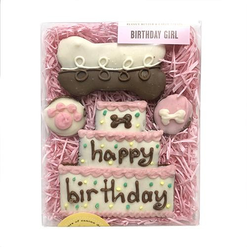 Happy Birthday Dog Cookie Gift Box Girl