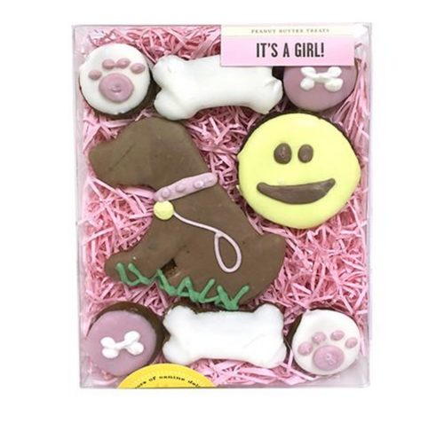 It's a Girl Dog Cookie Gift Box